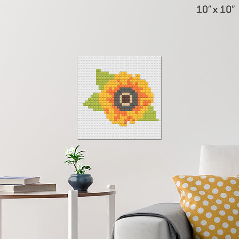 Sunflower Brick Poster