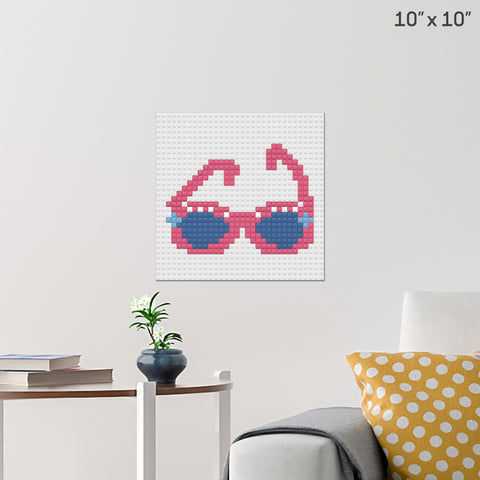 Sunglasses Day Brick Poster