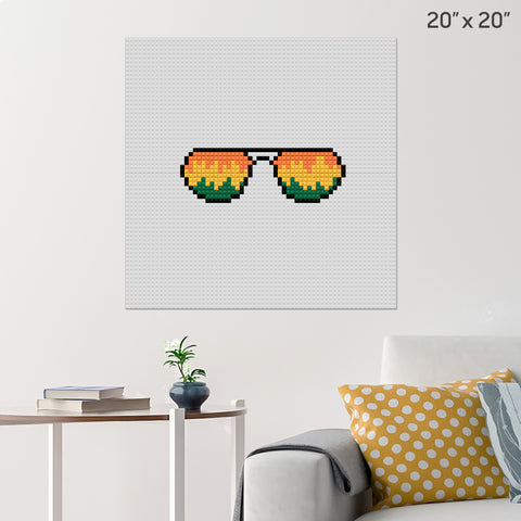 Sunglasses Brick Poster