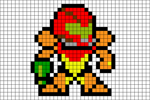 Super Metroid Pixel Art
