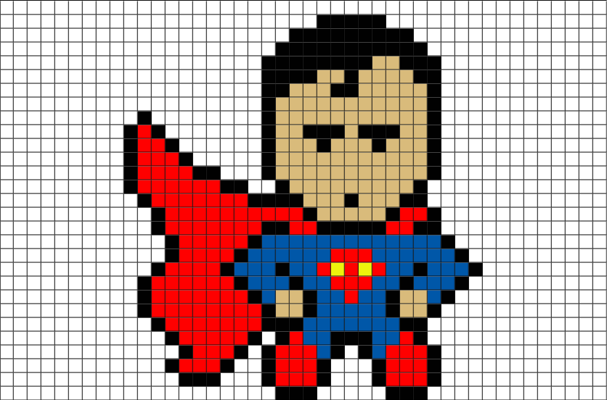 Superman Pixel Art Brik