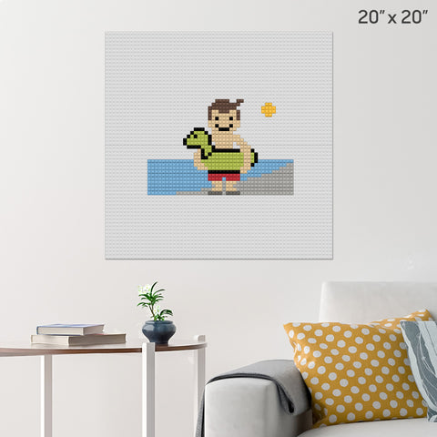 Swimming Brick Poster
