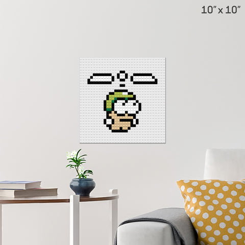 Swing Copters Man Brick Poster