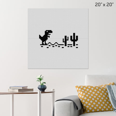 T-Rex Game Brick Poster