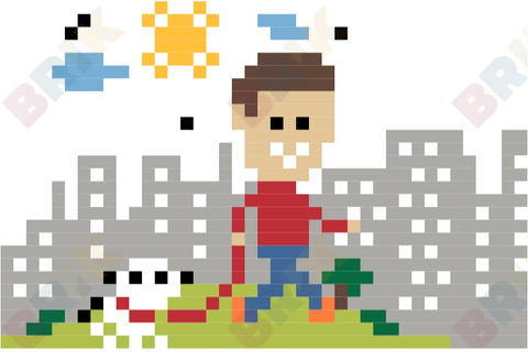 Take a Walk in the Park Day Pixel Art