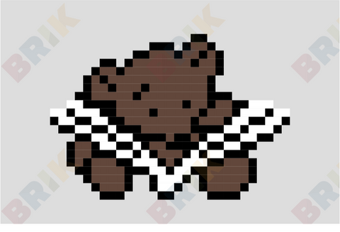 Teddy Bear Pixel Art