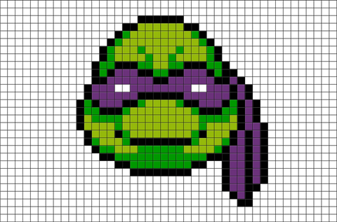 Teenage Mutant Ninja Turtles Donatello Pixel Art
