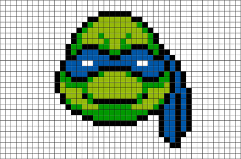 Teenage Mutant Ninja Turtles Leonardo  Pixel Art