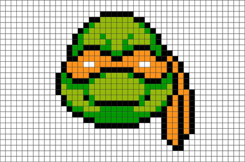 Teenage Mutant Ninja Turtles Michelangelo Pixel Art