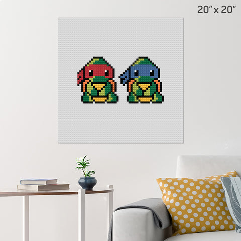 Teenage Mutant Ninja Turtles Brick Poster