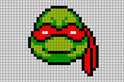 Teenage Mutant Ninja Turtles Raphael Pixel Art