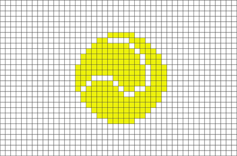 Tennis Ball Pixel Art