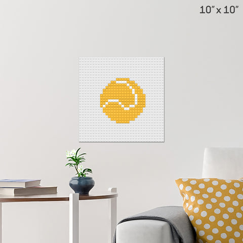 Tennis Ball Brick Poster