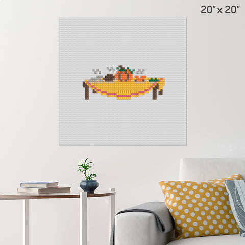 Thanksgiving Day Brick Poster