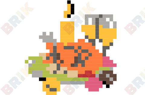 Thanksgiving Dinner Pixel Art