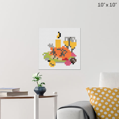 Thanksgiving Dinner Brick Poster