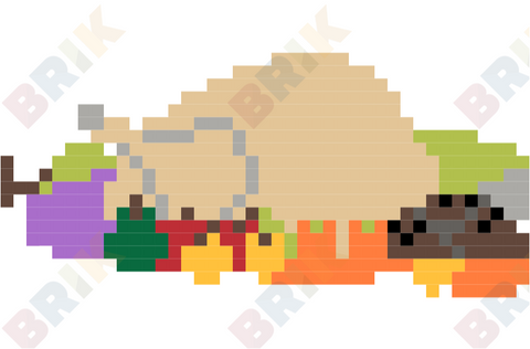 Thanksgiving Turkey Pixel Art