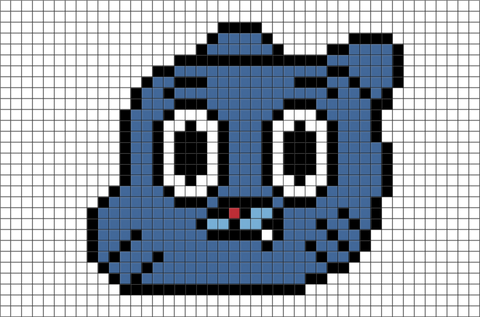 The Amazing World of Gumball Pixel Art