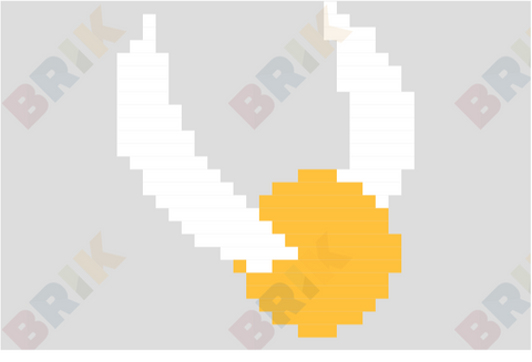 The Golden Snitch Pixel Art