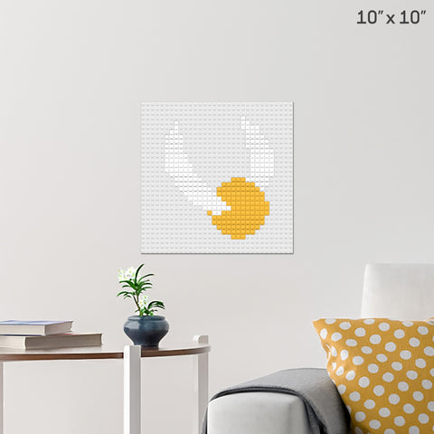 The Golden Snitch Brick Poster