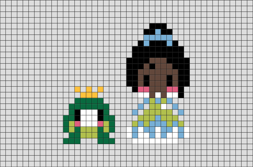 the princess and the frog pixel art  u2013 brik
