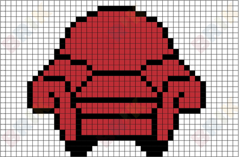Thinking Chair Pixel Art