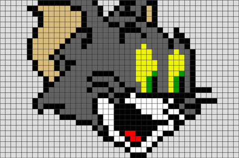 Tom and Jerry 1 Pixel Art