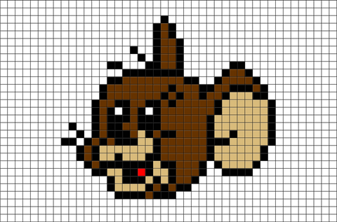 Tom and Jerry Pixel Art