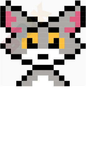Tom Cat Pixel Art