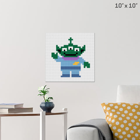 Toy Story 3-Eyed Alien Brick Poster