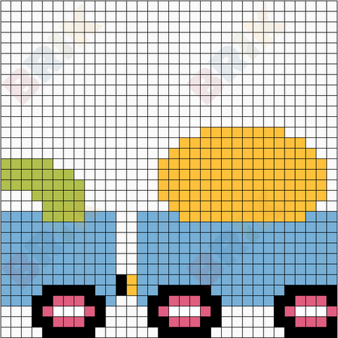 Train 2 Pixel Art