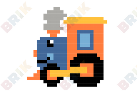 Train Pixel Art