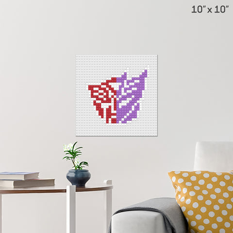 Transformers Hybrid Colored Brick Poster