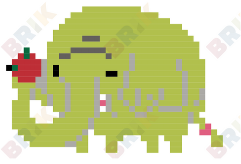 Tree Trunks Pixel Art