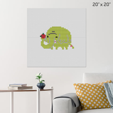 Tree Trunks Brick Poster