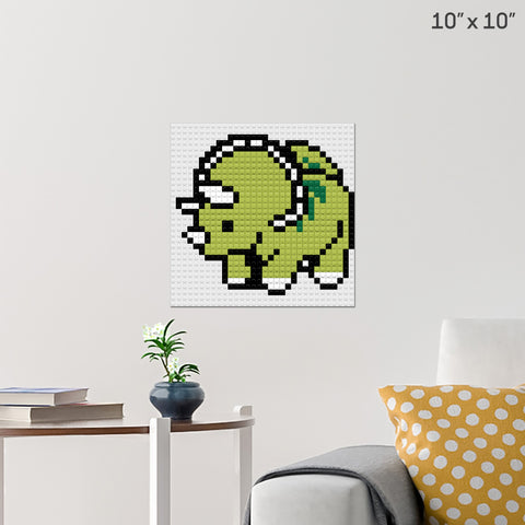 Triceratops Brick Poster