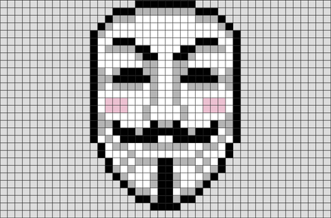 V for Vendetta Pixel Art