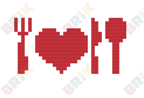 Valentine's Dinner Pixel Art