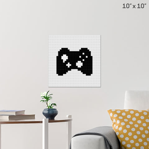 Video Games Day Brick Poster