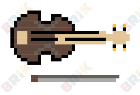 Violin Day Pixel Art