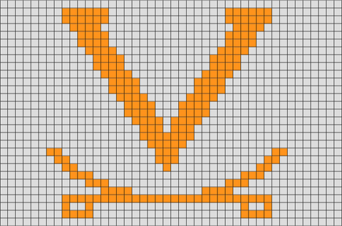Virginia Cavaliers Pixel Art