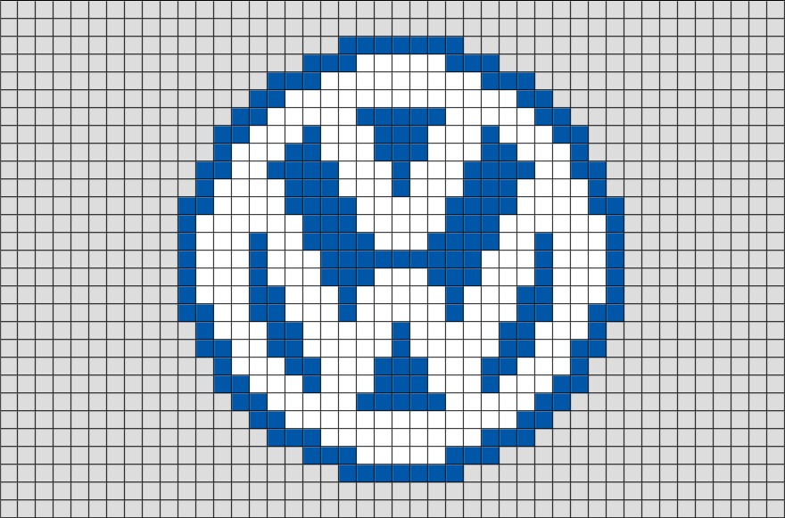 volkswagen logo pixel art brik. Black Bedroom Furniture Sets. Home Design Ideas