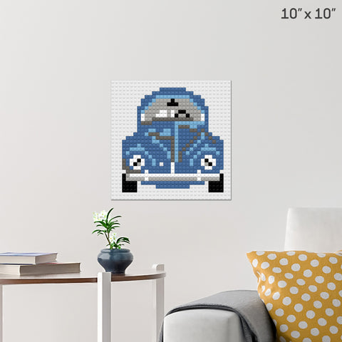 VW Beetle Brick Poster