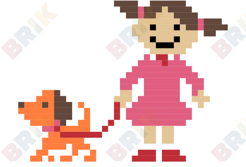 Walking the Dog Day Pixel Art