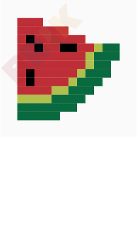 Watermelon Pixel Art