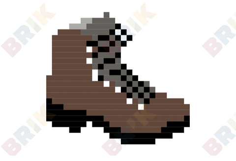 Wear Brown Shoes Day Pixel Art