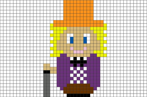 Willy Wonka Pixel Art