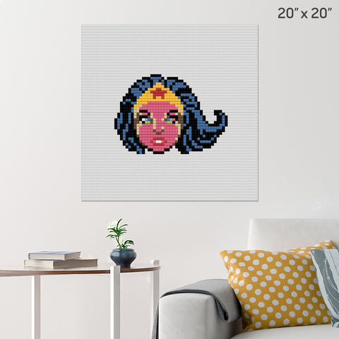 Wonder Woman Face Brick Poster