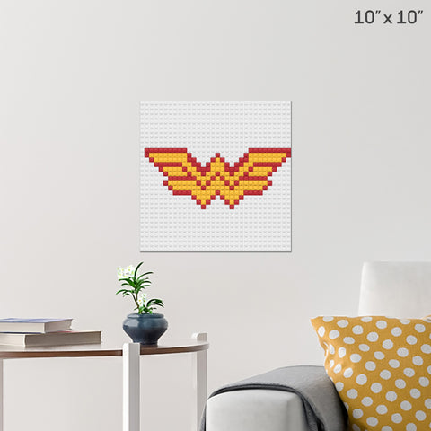 Wonder Woman Brick Poster