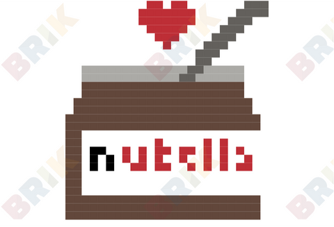 World Nutella Day Pixel Art
